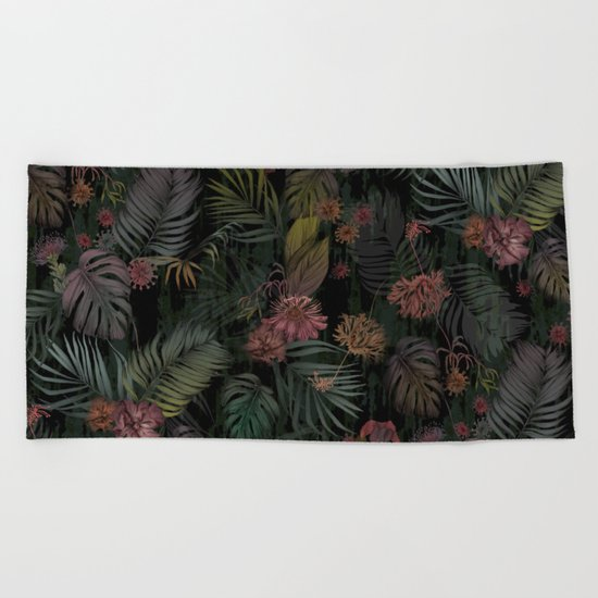 Tropical Iridescence Beach Towel