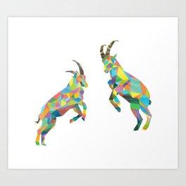 Ibex Art Print