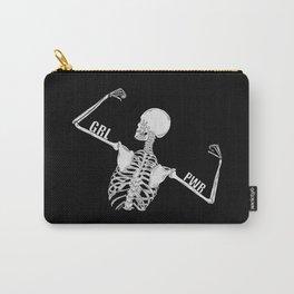 Girl Power Skeleton Illustration Carry-All Pouch