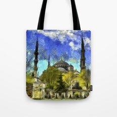 Blue Mosque Istanbul Van Gogh Tote Bag
