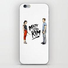 Matt and Kim iPhone & iPod Skin