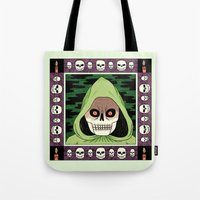 death Tote Bags featuring Death  by Jack Teagle