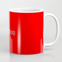 #ff0000 (red) Coffee Mug