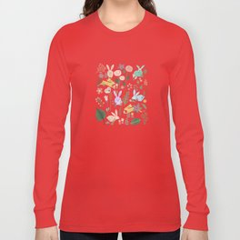 Springtime In The Bunny Garden Of Floral Delights Long Sleeve T-shirt