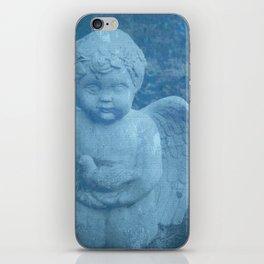 Blue Cherub iPhone Skin