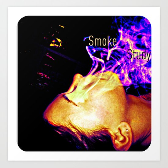 Smoke Study Art Print