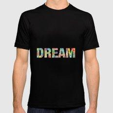 DREAM MEDIUM Black Mens Fitted Tee