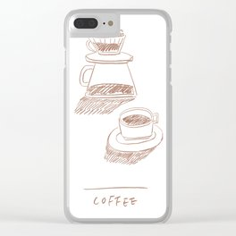 coffee hand-drip time Clear iPhone Case