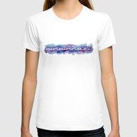 cincinnati T-shirts featuring Cincinnati Watercolor Banner Print by Robin Ewers