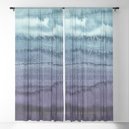 WITHIN THE TIDES EARLY SUNDOWN by Monika Strigel Sheer Curtain