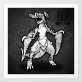 Garchomp Art Print
