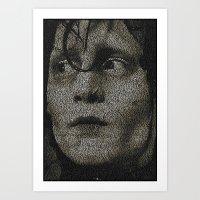 Edward Scissorhands Screenplay Print Art Print