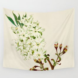 Gyoi-ko or Robe Yellow Cherry Blossoms Wall Tapestry