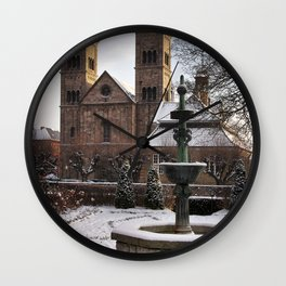 Viborg Catherdal in Winter Wall Clock
