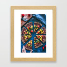 Cauliflower Vegan Pizza Framed Art Print