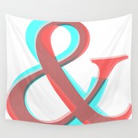 band Wall Tapestries featuring AMPERSAND BAND by CHIN CHIN Design