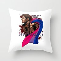 fandom Throw Pillows featuring Fandom Pride : Bisexuality ( Dean Winchester) by Seraph Limonade