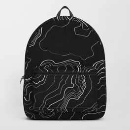 Black topography map Backpack