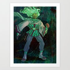 God - The Star Player Art Print
