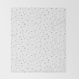 Constellations (White) Throw Blanket