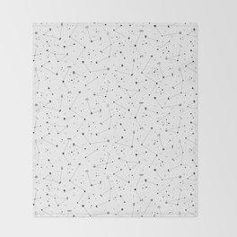 Constellations (White) Throw Blanket