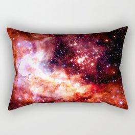 Celestial Fireworks Red Orange Rectangular Pillow