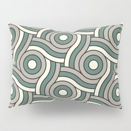 Circle Swirl Pattern Ever Classic Gray 32-24 Thistle Green 22-18 and Dover White 33-6 Pillow Sham