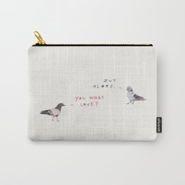 Zut Alors -- You What Love? // French & British Birds Carry-All Pouch
