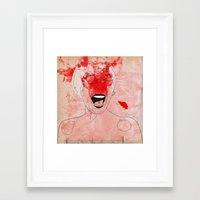 scream Framed Art Prints featuring scream by Alvaro Tapia Hidalgo