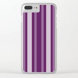 Purple Victorian Lady Stripe Clear iPhone Case