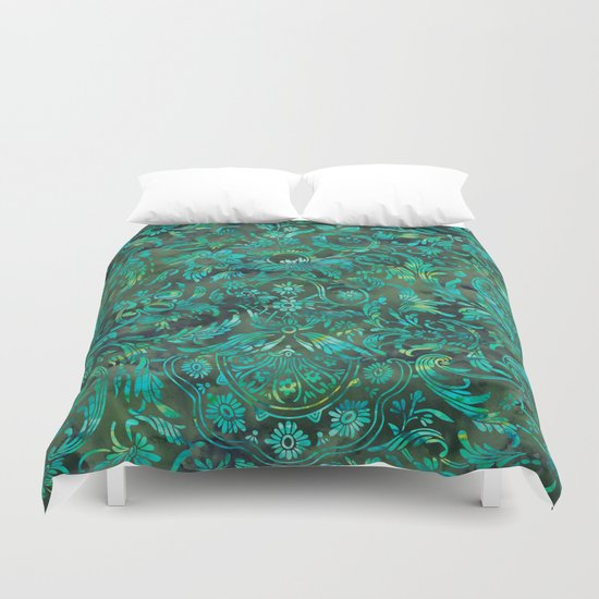 Watercolor Damask Pattern 05 Duvet Cover