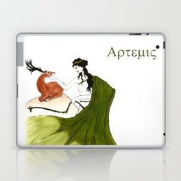 The Lady Artemis, The Goddess of the Hunt Laptop & iPad Skin