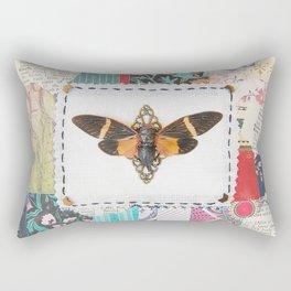 patchwork vintage cicada Rectangular Pillow