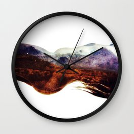 Mountains within us Wall Clock