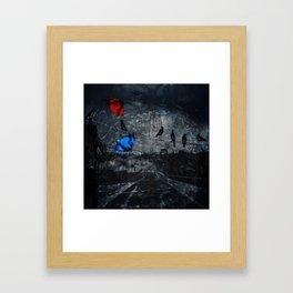 Blown Away on a Rainy Day Framed Art Print