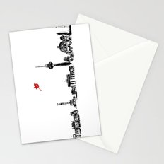 Berlin City Skyline , Germany , Bahn Tower, Brandenburg Gate, Berlin Cathedral, Reichstag Building Stationery Cards