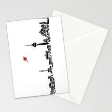 Berlin City Skyline , Germany , Bahn Tower, Brandenburg Gate, Berlin Cathedral, Reichstag Building Stationery Cards