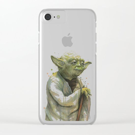 Yoda Portrait Clear iPhone Case