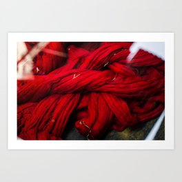 Red Dyeing Art Print
