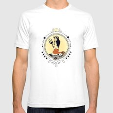 Mermaid Queen SMALL Mens Fitted Tee White