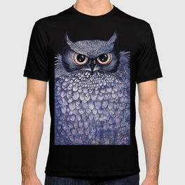 La Sagesse du Hibou (The Blue Owl) T-shirt