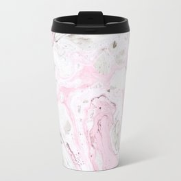 Pink and gray marble Travel Mug