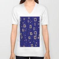 klimt V-neck T-shirts featuring Blue- Klimt inspired by Angela Capacchione