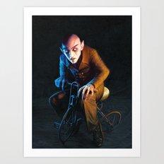 Nosferatu On A Tricycle Art Print