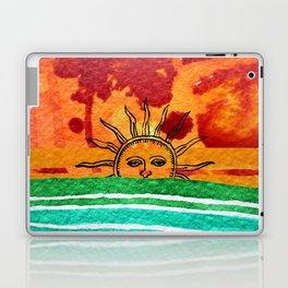 Sunset in planet Bizarro Laptop & iPad Skin