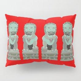 Lion Statues Pillow Sham