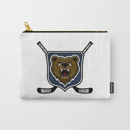 Modern professional grizzly bear logo for a sport team Carry-All Pouch
