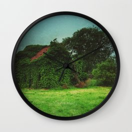 house with ghosts  Wall Clock