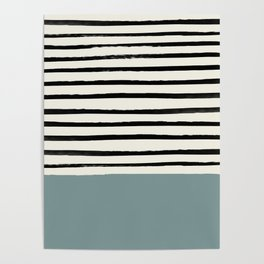 River Stone & Stripes Poster