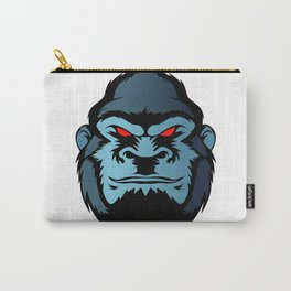 blue gorilla head Carry-All Pouch